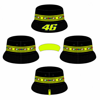VR46 Tapes Bucket Hat Black / Fluo Yellow