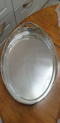 Antique solid silver tray 1907 /08