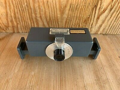HP H375A Variable Attenuator 7 - 10 GHz - 0-20 dB