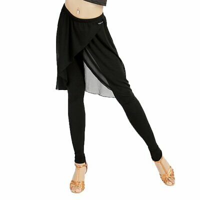 Gloria Dance Women's Black Size Medium M Layered Dance Pants Stretch