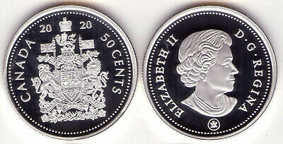 2020 Canada Pure Silver Proof Coat of Arms 50 cent Low Mintage of 15,000