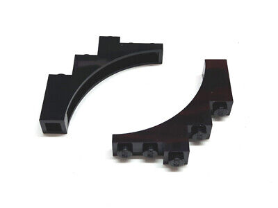 6184784 10 Lego Black Modified 1x2x 1 1//3 with curved top