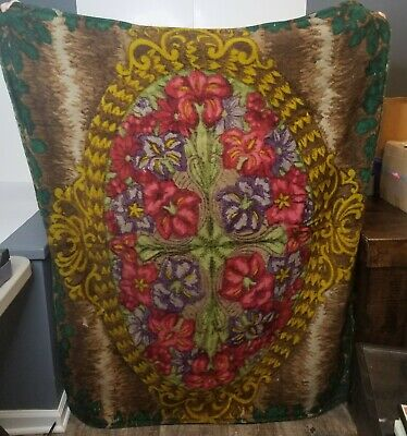 Antique Stroock Sleigh Buggy Carriage Lap Blanket Throw 60 X 48 Large Heavy