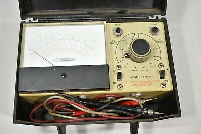 Heathkit Utility Solid State Voltmeter Model IM-17 in Case For Parts