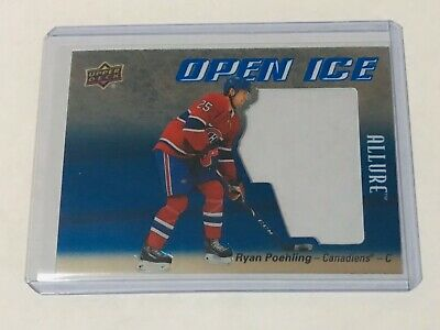 2019-20 Ud Allure Open Ice Ryan Poehling Oi-Rp Canadiens