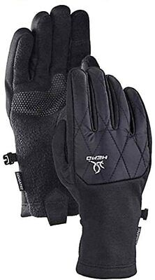 -NEW-Head Women's Hybrid Gloves BLACK MEDIUM