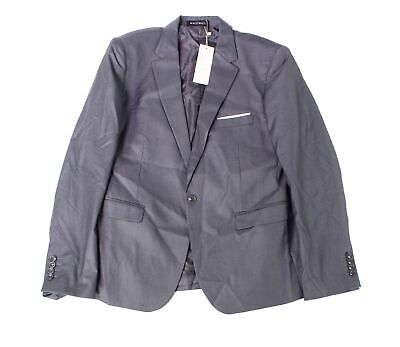 Designer Brand Mens Suit Separate Gray Size 6XL Single Button Blazer $125- 119