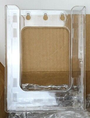 "AZAR Hanging Brochure Holders, box of 10, 7.87"" x 6.25"" clear plastic 252341"