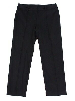 Alfani Womens Dress Pants Black Size 16W Plus Pintuck Slim Leg Stretch $79 169