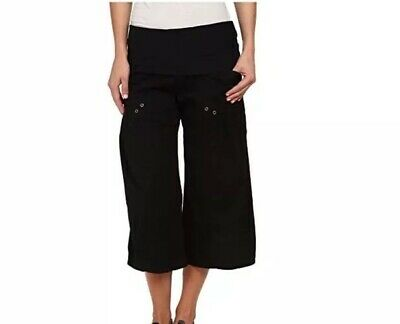 NWT XCVI Womens Culver Crop Pants Black Size S