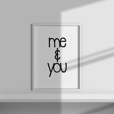 ME AND YOU Wall Print | Romantic Bedroom Wall Art Home Decor Ideas Quote Poster