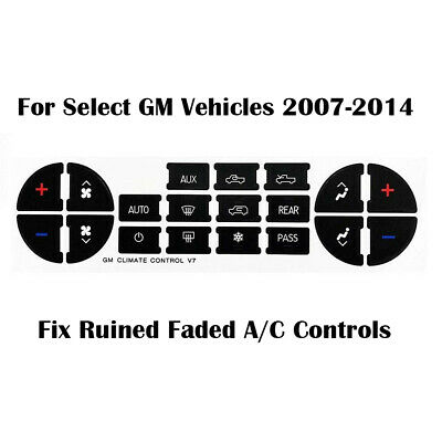 GMAC GM CLIMATE BUTTON DECAL STICKERS