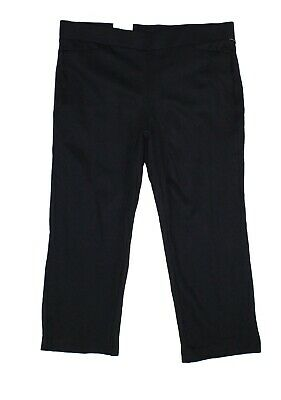 Style & Co. Womens Pants Black Size 14W Plus Straight Cropped Stretch $56 128
