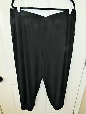 NWOT Women's Lisa Rinna Collection Knit Cropped Jogger Pants -1X- Black
