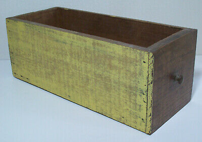 Vintage Old Wooden Drawer with Metal Knob Handle Rack Shelve Flower Box Sewing