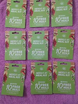 lot of 30 HELLO FRESH 10 free meals including free shipping gift card
