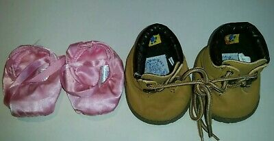 2 Build A Bear BAB Shoes - Boots Flawed - Plus Ballet Slippers