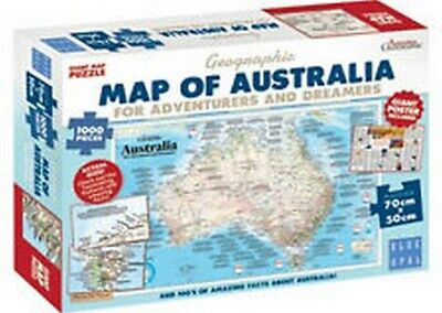 Map of Australia for Adventurers & Dreamers Jigsaw Puzzle