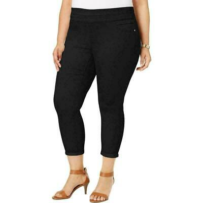 Style & Co. Womens Pants Black Size 18W Plus Tummy-Control Ankle Stretch $56 227