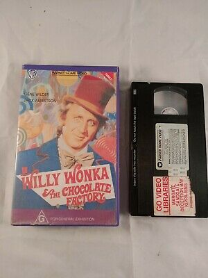 VHS VIDEO TAPE Willy Wonka and the Chocolate Factory ex Rental