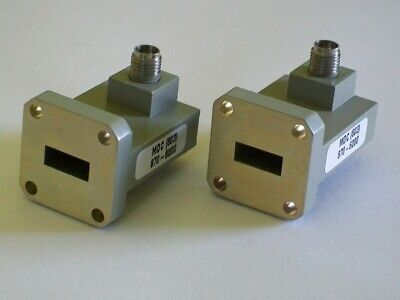 MDC WR42 18-26.5 ghz microwave waveguide coaxial K connector adapter 2.92 mm NEW