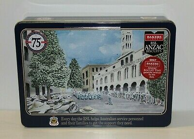 Anzac Biscuit Tin Commemorating 75 Years WW11 Limited Edition 500g Empty 2020