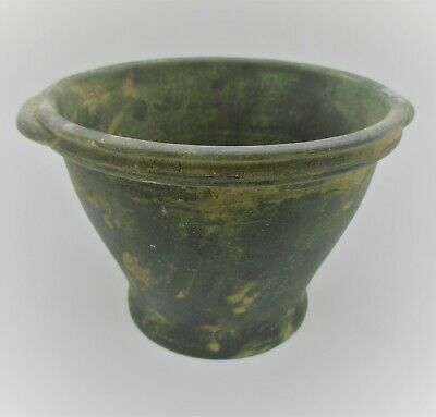 Circa 100Bc-100Ad Ancient Celtic Bronze Votive Offering Vessel Superb