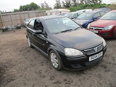 2004 Vauxhall Corsa C 1.2i 16v SXi Petrol Manual 3 Door Hatchback Black Cheap