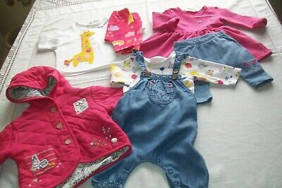 Baby girls bundle from Next with rainbows & bunnies , sets & jacket aged 0-1m