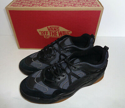 VANS VARIX WC Mens Trainers Black Leather Skate Shoes New RRP £105 UK Size 7