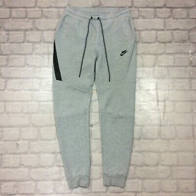 Nike Mens Uk S Grey Tech Fleece Pants Thermal Joggers Jogging Bottoms Rrp £75 J
