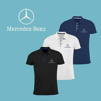 Mercedes Benz Polo T Shirt EMBROIDERED Auto Car Logo Slim Mens Clothing