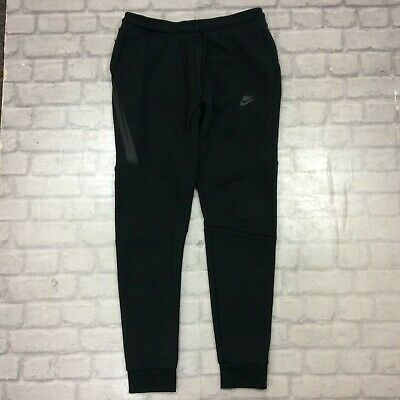 Nike Mens Uk M Black Tech Fleece Pants Thermal Joggers Jogging Bottoms Rrp £75 J