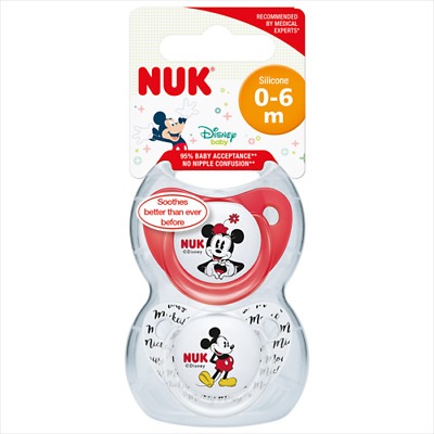 Nuk Disney Soother Silicone Size 1 (2 Pack)