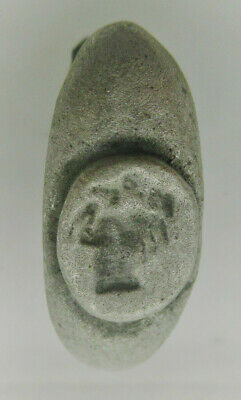 Detector Finds Ancient Roman Ar Silver Seal Ring With Hippocampi On Bezel