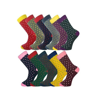 11 Pairs Size 7 To 11 Ankle Socks Polka Dots