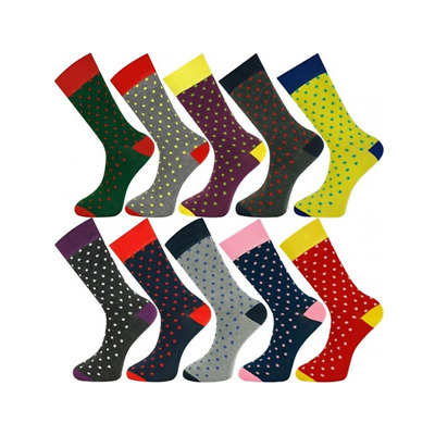 10 Pairs Ankle Socks Dot 01 Size 7 To 11
