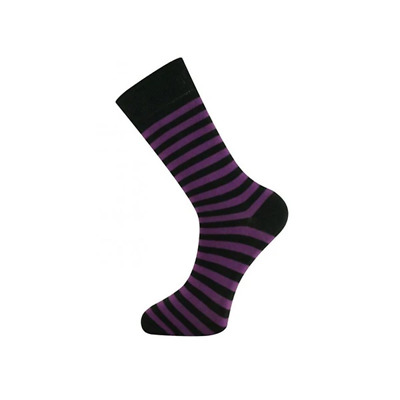 Ankle Socks Stripe Black Size 7 To 11