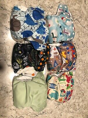 Blueberry Simplex AIO Newborn Cloth Diaper Lot Of 6