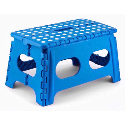 Wide Folding Foot Step Stool Multi Purpose Plastic Foldable Home Kitchen UK