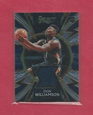 2019-20 Select 2 Card Sparks Jersey Lot of Zion Williamson & JA Morant