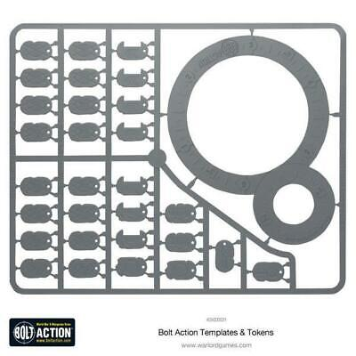 Warlord Bolt Action 28mm Bolt Action Templates MINT
