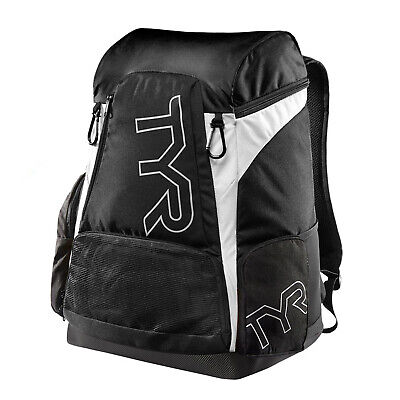 Tyr Alliance Team Swimming Backpack 45 Litre Black White
