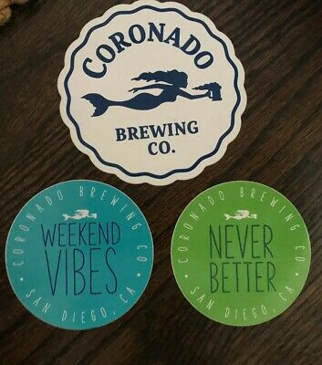 CORONADO official Logo craft beer STICKER