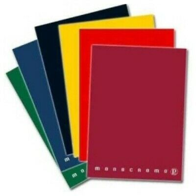 QUADERNO A4 40FF MONOCOLORE ASSORTITI Colore QUADRETTI 5 MM - Per #0394