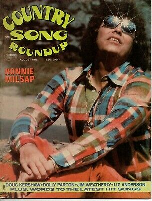 Country Song Roundup Magazine August 1975 Ronnie Milsap Roy Clark Dolly Parton