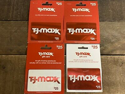 TJ Maxx HomeGoods Marshalls Gift Cards w/ $100.00 Value ACTIVATED Card will Ship