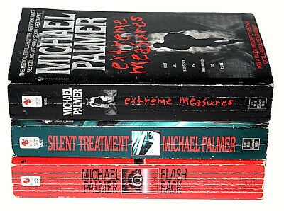 Lot of 3 Michael Palmer Mystery Thriller Adventure Novels PaperBack Books