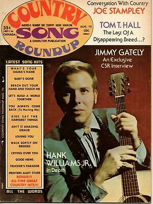 Country Song Roundup Magazine August 1973 Hank Williams Jr Don Tom T Hall Fender