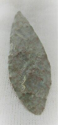 Neolithic Flint Carved Arrowhead Prehistoric War Relic